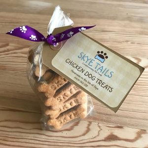 Handmade Chicken Dog Biscuits by Skye Tails on the Isle of Skye
