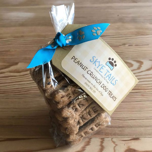 Handmade Peanut Crunch Dog Biscuits by Skye Tails on the Isle of Skye